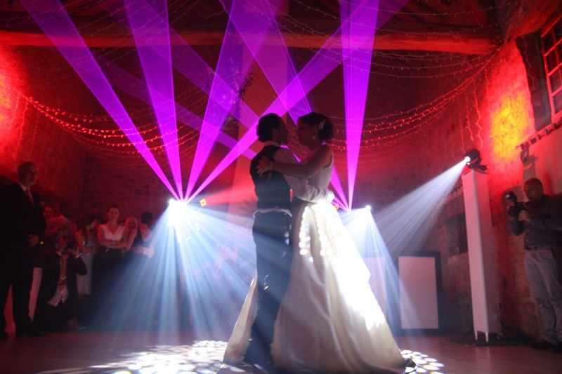 ouverture de bal féérique laser éclairage dj mariage