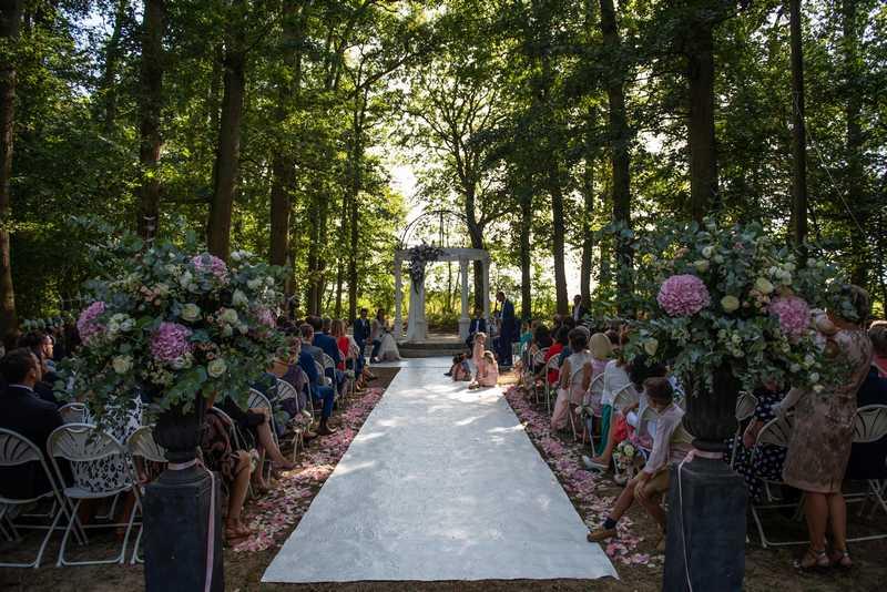 Cérémonie laïque extérieure mariage