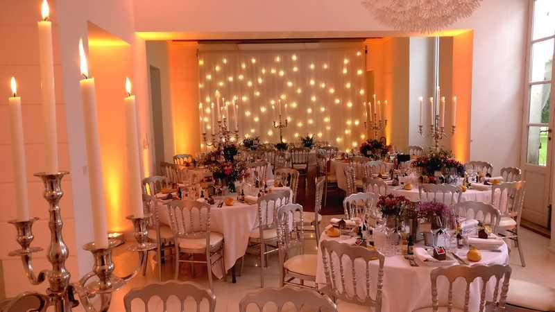 Rideau led, rideau lumineux mariage, rideau lumineux, guirlande led, mariage dj 91, décoration mariage, led blanc chaud, rideau, tissus